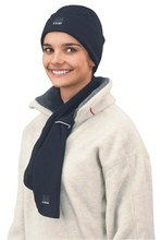 BLACK MICROFLEECE HAT