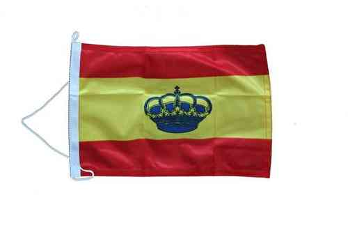 SPANISH FLAG WITH CROWN