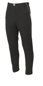 BLACK MICROFLEECE TROUSERS
