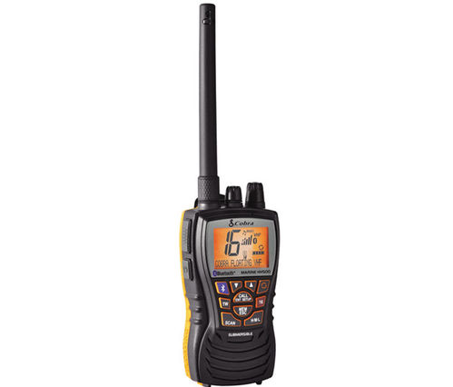 PORTABLE VHF TRANSCEIVER COBRA MRHH 500. BLUETOOTH