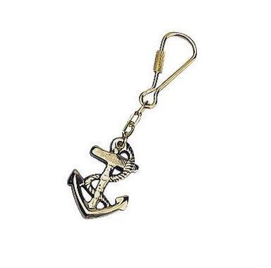 BRASS ANCHOR KEY CHAINS