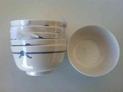 "CEREAL BOWL (PACK 6). ""BLUE ROPE"" KITCHENWARE"