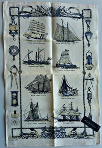 LINEN KITCHEN CLOTH 76 X 48 CMS (Boats)