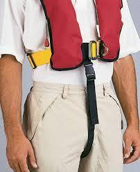 Crutch strap for inflatable lifejacket