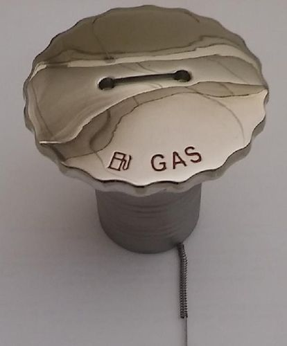 Gas stainless cap. Gas tank for 51 mm hose.