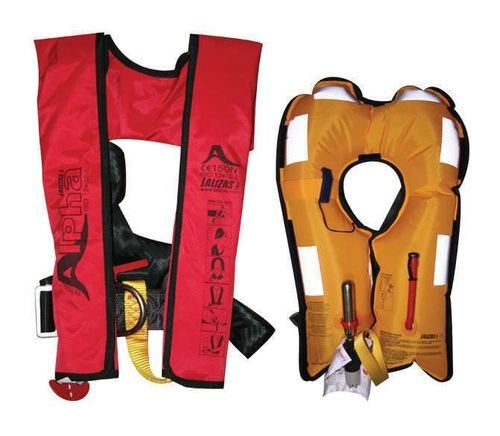 INFLATABLE LIFEJACKET ALPHA 150N - 275N. LALIZAS