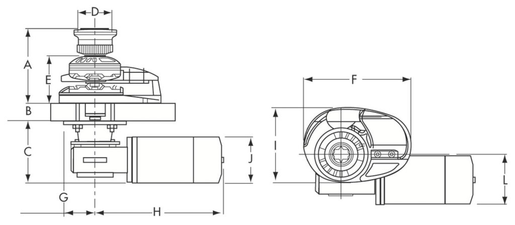 Lofrans Windlass X1 500 W Chromed Bronze - LAMARENCALMA