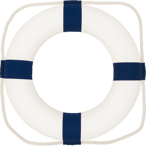 SALVAVIDAS NÁUTICO DECORATIVO COLOR AZUL 35CM