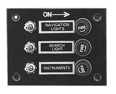 SWITCH PANEL - ANODISED (3 gang swith)