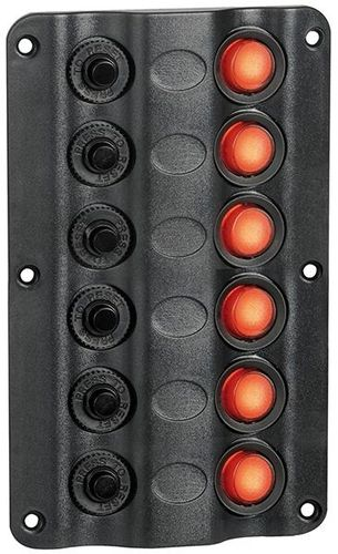 SWITCH PANEL - ANODISED (6 gang swith)